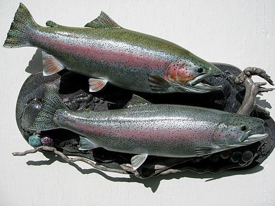Rainbow Trout Fish Replicas