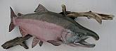 Silver Salmon Replica Mount: Silver Salmon Replica Mount-Quality Salmon Trophy by Mark Osund